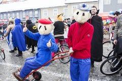 狂欢节队伍在萨莫博尔 免版税库存图片
