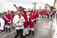 狂欢节队伍在萨莫博尔 库存图片