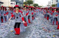 狂欢节队伍街道 免版税库存照片