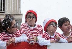 狂欢节队伍,利马索尔塞浦路斯2015年 库存图片