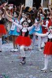 狂欢节队伍,利马索尔塞浦路斯2015年 免版税图库摄影