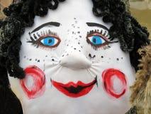 狂欢节面具妇女 免版税库存图片