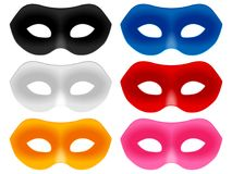 狂欢节面具集合 免版税图库摄影