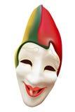 狂欢节面具,说笑话者 库存图片