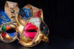 狂欢节面具 免版税库存照片