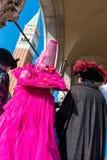 狂欢节风俗在威尼斯(Venezia)威尼托意大利欧洲 免版税库存照片