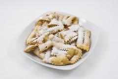 狂欢节食物意大利甜点 库存图片