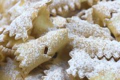 狂欢节食物意大利甜点 免版税库存图片