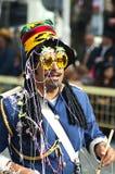 狂欢节鼓手利马索尔游行 库存图片