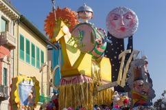 狂欢节, Viareggio,意大利 图库摄影