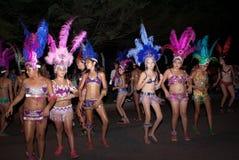 狂欢节年轻人舞蹈家 库存图片