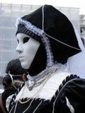 狂欢节黑白服装,威尼斯 库存照片
