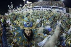 狂欢节2017年- Uniao da Ilha 免版税库存图片