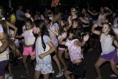 狂欢节Chidlren跳舞 免版税库存照片
