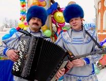 狂欢节maslenitsa俄语 图库摄影