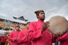 狂欢节semarangan文化的新娘 免版税库存照片