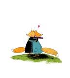 狐狸和星 库存图片