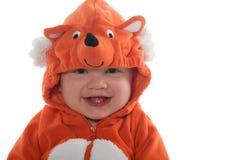 狐狸服装的男孩 免版税库存照片