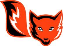狐狸红色尾标 皇族释放例证