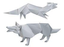 狐狸纸狼 库存例证