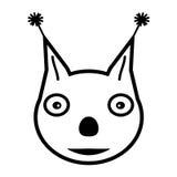狐狸头的传染媒介图象 库存图片