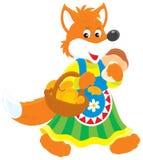 狐狸mushroomer 免版税图库摄影