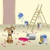 狗和油漆 库存照片