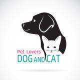 狗和猫的传染媒介图象设计 免版税图库摄影