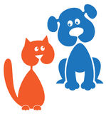 狗和猫 免版税图库摄影