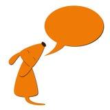 狗和讲话泡影 免版税图库摄影