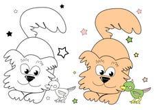 狗和鹦鹉 免版税图库摄影
