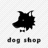 狗商店牌 免版税库存照片