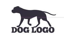 狗商标设计似犬动物剪影 库存例证