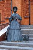狗夫人小mogilev的雕塑 库存图片