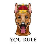 狗头德国牧羊犬传染媒介冠的 向量 向量例证