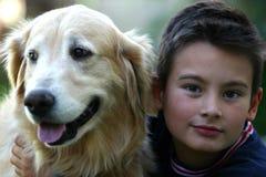 狗孩子 免版税图库摄影
