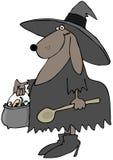 狗巫婆 库存照片