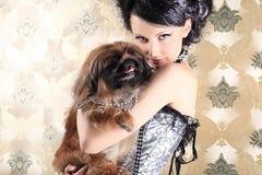 狗收藏页 免版税图库摄影