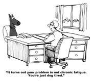 狗是筋疲力尽的 库存例证