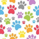 狗脚印无缝的样式 免版税库存图片