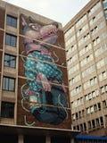 狗街道画在布里斯托尔 库存图片