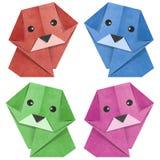 狗被回收的origami papercraft 免版税库存照片