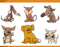 狗被设置的漫画人物 库存图片