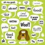 狗谈话 图库摄影