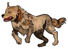 狗运行中 向量例证