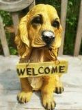 狗雕象 免版税图库摄影