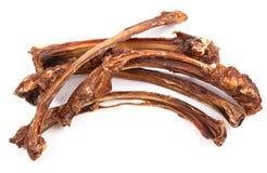 狗食,干燥肋骨 免版税库存照片