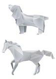 狗马origami 免版税库存照片