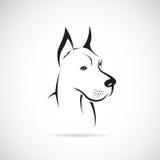 狗(丹麦种大狗)的向量图象 免版税库存照片