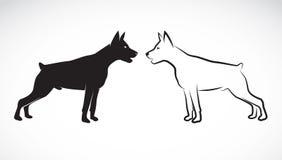 狗(丹麦种大狗)的向量图象 免版税库存图片